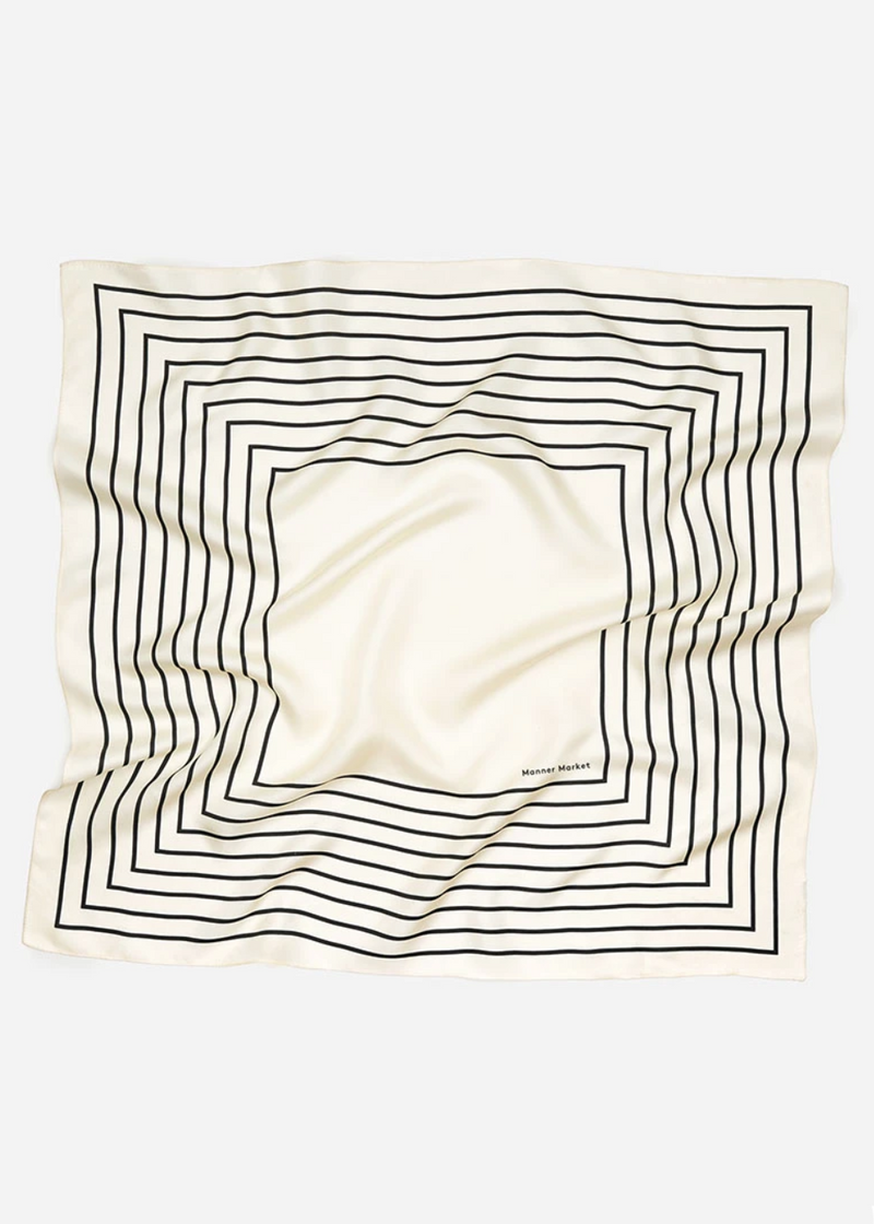 Agnes Silk Scarf - White - house of lolo