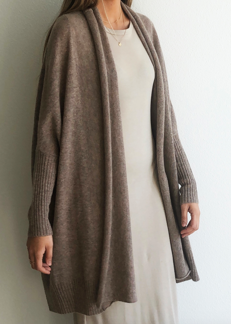 Cocoon Shawl Jacket - Mink - house of lolo