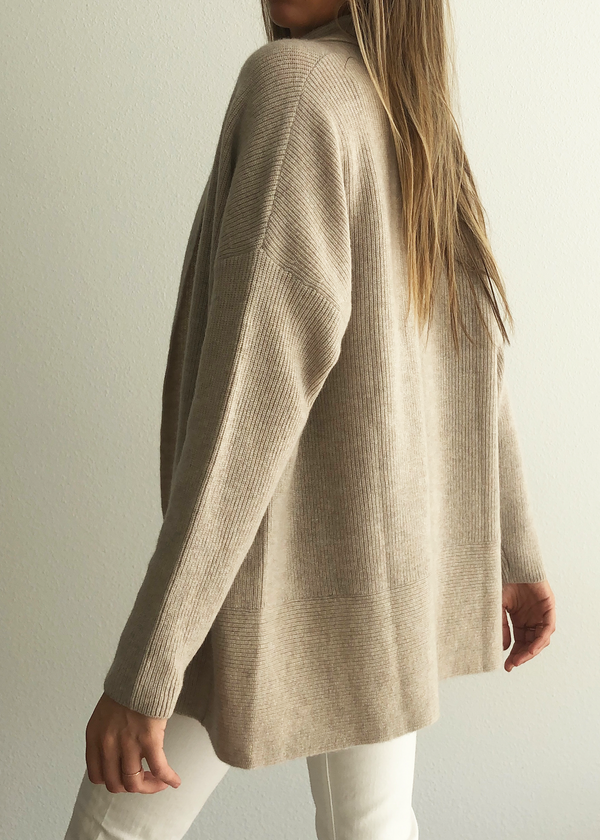Natalie Cashmere Cardigan - Drift - house of lolo