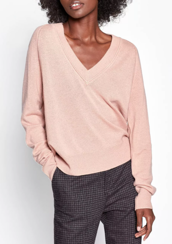 Madalene V-neck - Misty Rose - house of lolo