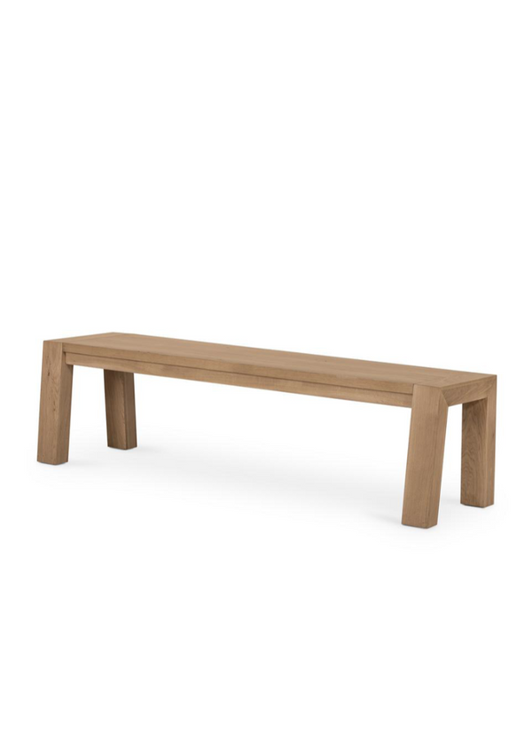 Capra Dining Bench - Light Oak Resin - house of lolo