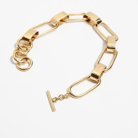 Capsule Link Bracelet - Brass - house of lolo