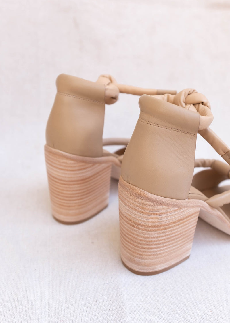 Orum Block Heels Nude - house of lolo