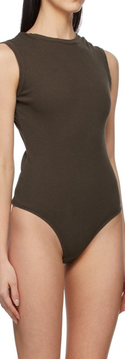 Sutton V Back Bodysuit - French Press Brown - house of lolo