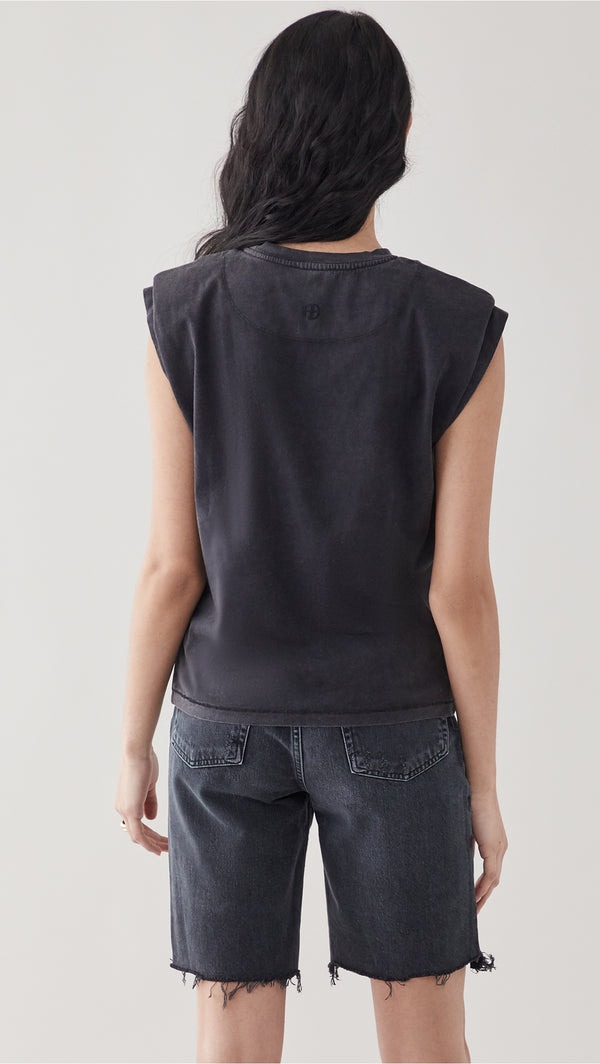 Tanner Tank - Washed Black - house of lolo