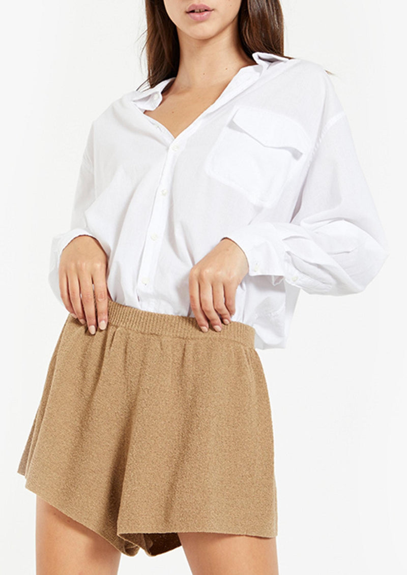 Fifi Knit Shorts - Taupe - house of lolo