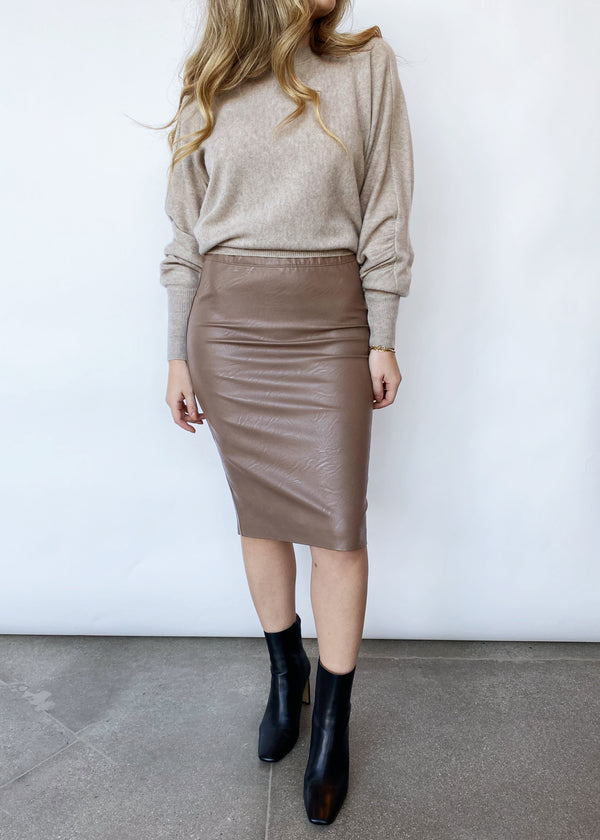 Drew Pencil Skirt - Mink - house of lolo