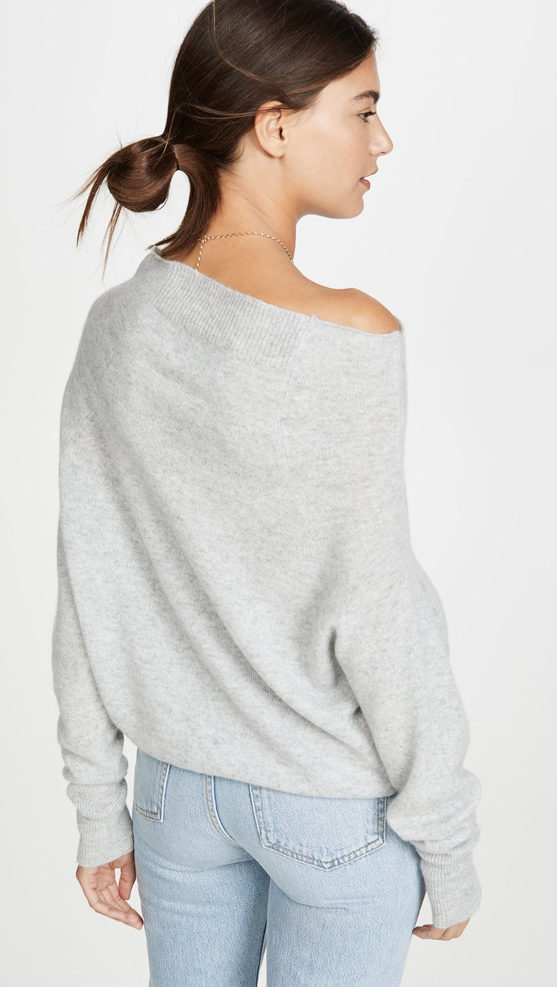 Lori Off Shoulder - Cinder Grey - house of lolo