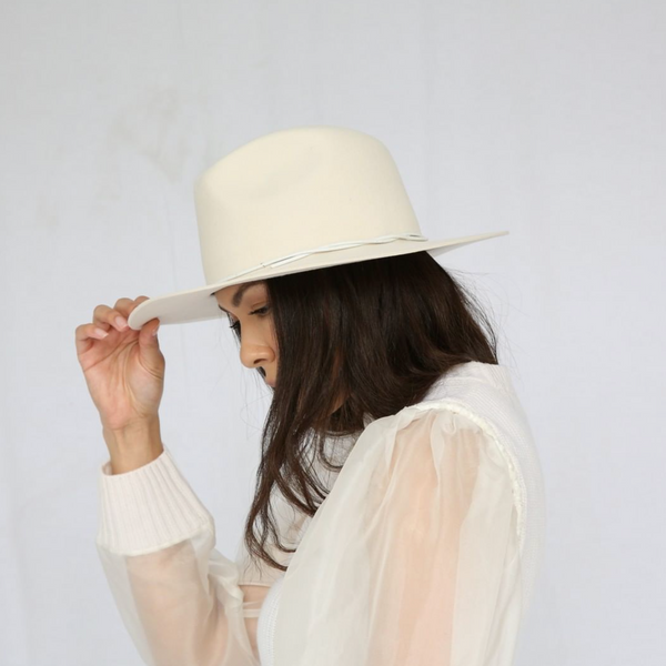 Byron Packable Wool Hat - Cream - house of lolo