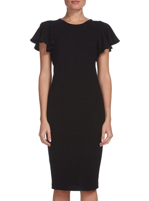 Flutter Sleeve Fitted Dress - house of lolo