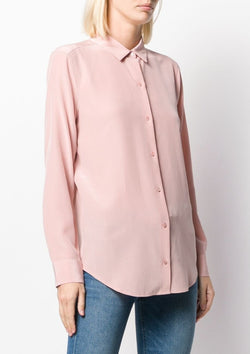 Essential Silk Shirt, Misty Rose - house of lolo