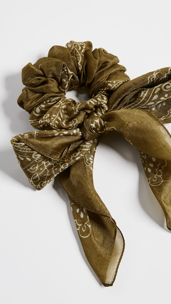 Paisley Garden Bandana Scrunchie - Grass Roots - house of lolo