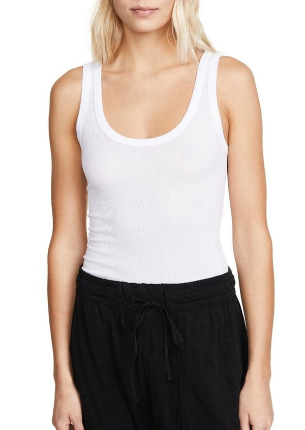 Rib Bold Tank - White - house of lolo