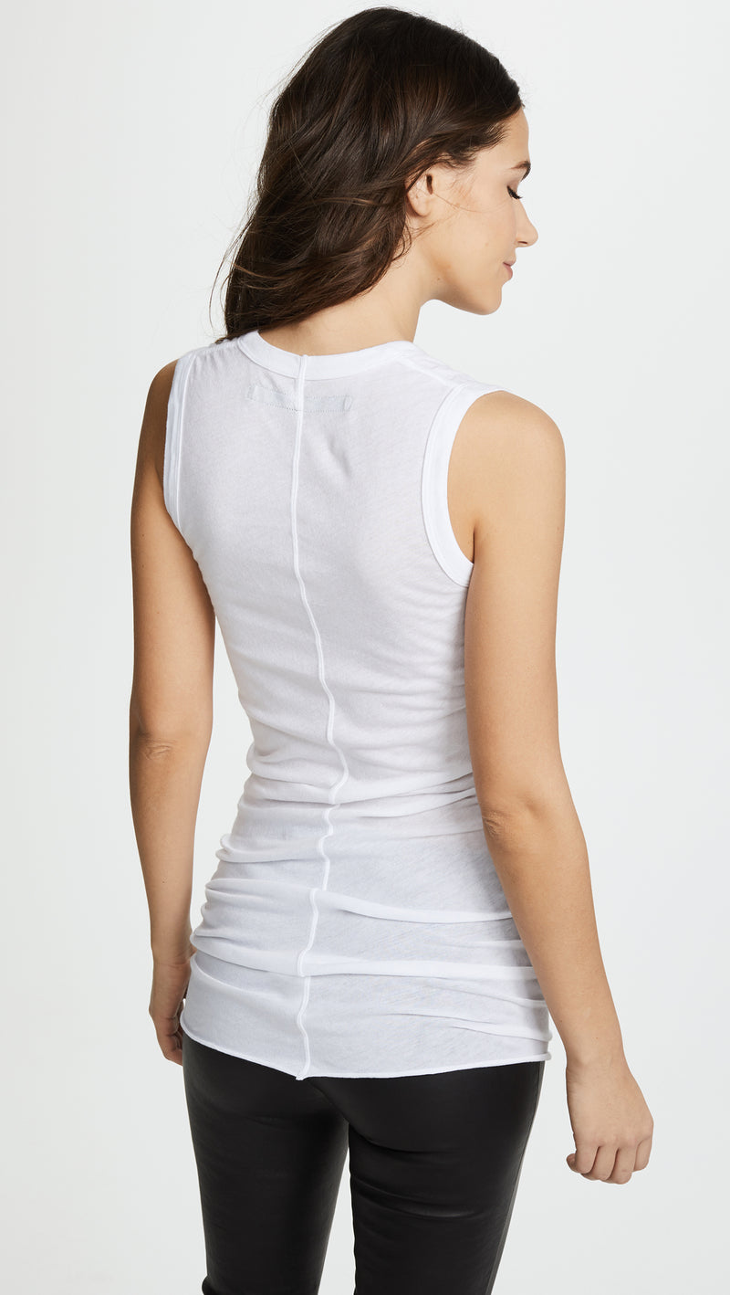 Bold Sleeveless Neck White - house of lolo