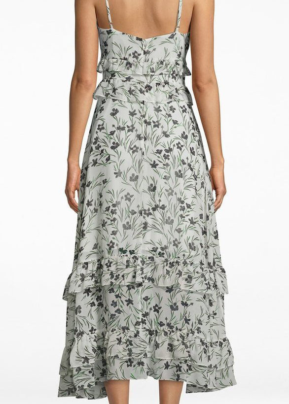 Flower Patch Silk Midi - Ivory - house of lolo