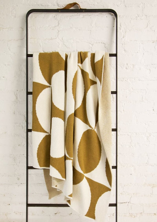 Puzzle Ochre Recycled Cotton Throw