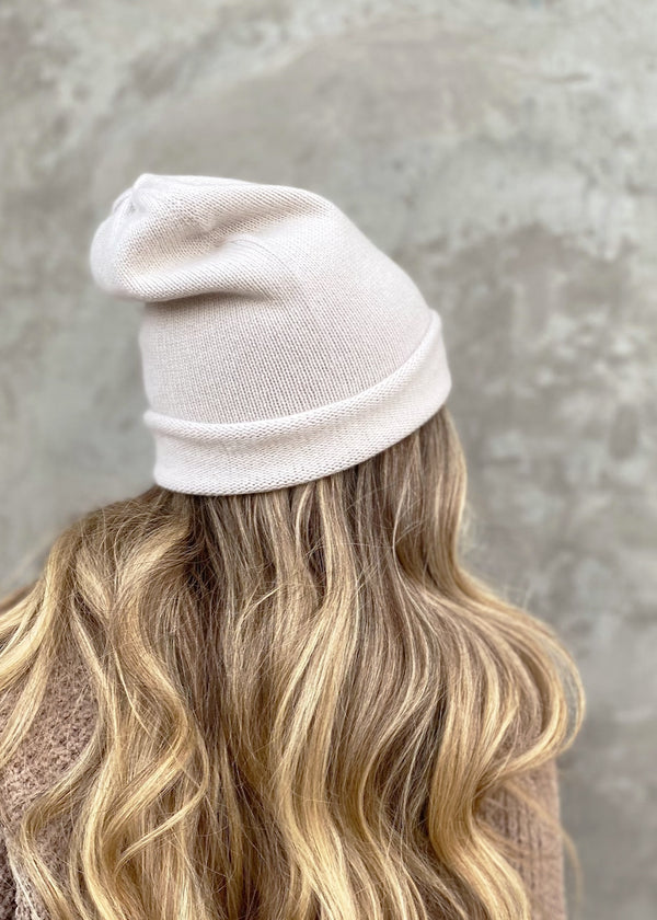 Stella Cashmere Beanie - Fog - house of lolo