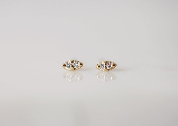 Twin Diamond Earring - Single - house of lolo