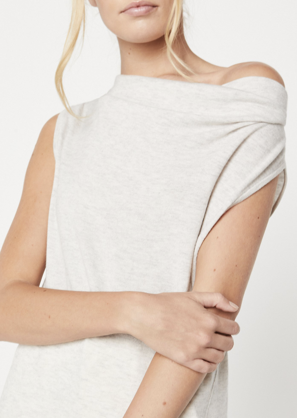 Nohr Off Shoulder - Dove Grey Melange - house of lolo