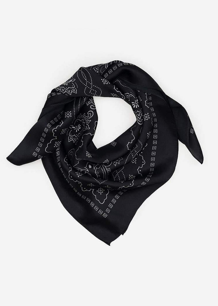 Western Silk Scarf - Black - house of lolo