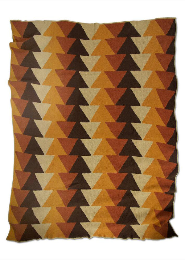 Stacked Warm Colors Recycled Cotton Throw - house of lolo