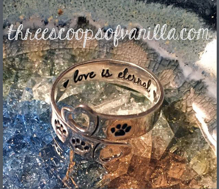 Love is Eternal Ring STERLING SILVER