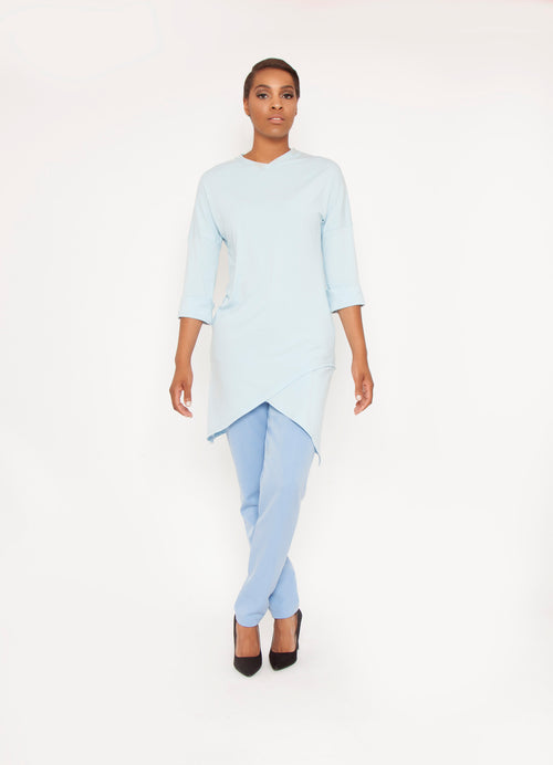 Asymmetrical Knit Tunic
