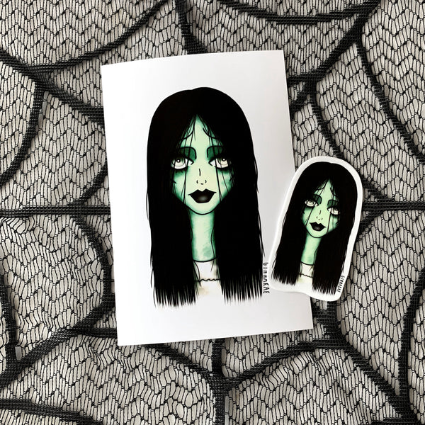 Samara (The Ring) Print + Sticker