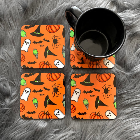 Cute and Spooky Coasters (Set of 4)