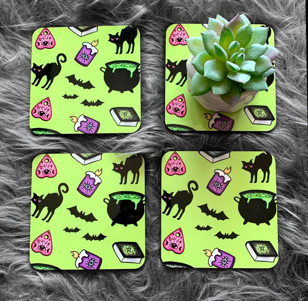 Witchy Vibes Coasters (Set of 4)