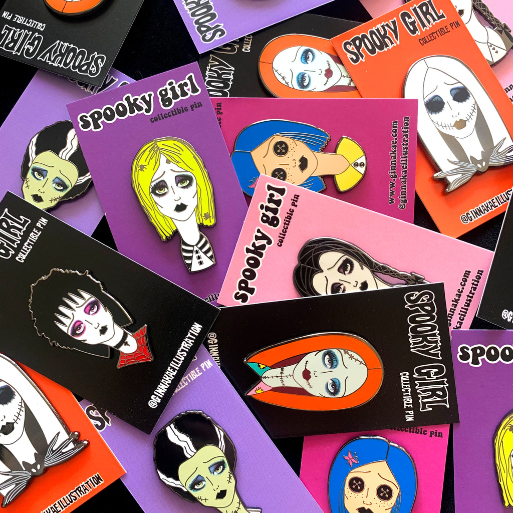 Spooky Girl Pin Mystery Deal (Set of 4)