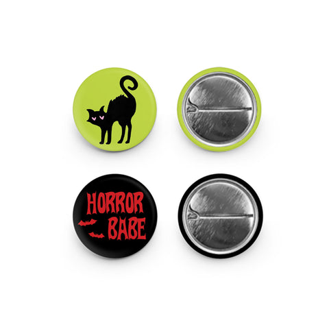 Horror Babe Button Pins