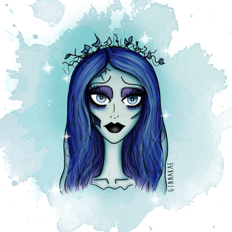 Corpse Bride Print + Sticker