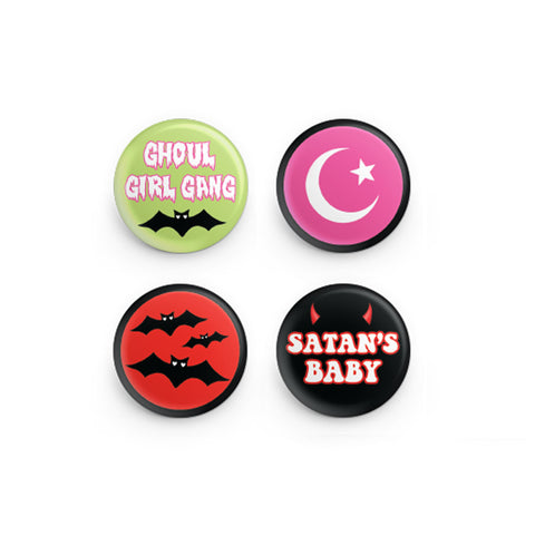 Ghoul Girl Gang Button Pins
