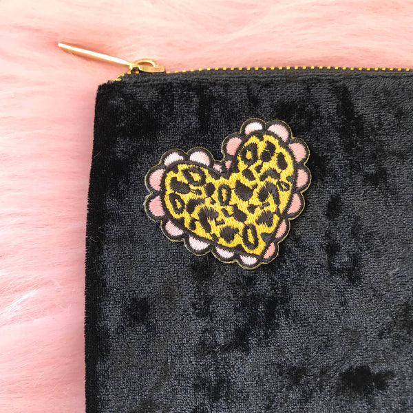 Cheetah Heart Mini  Patch
