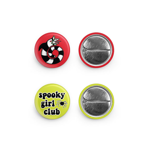 Spooky Girl Club Button Pins