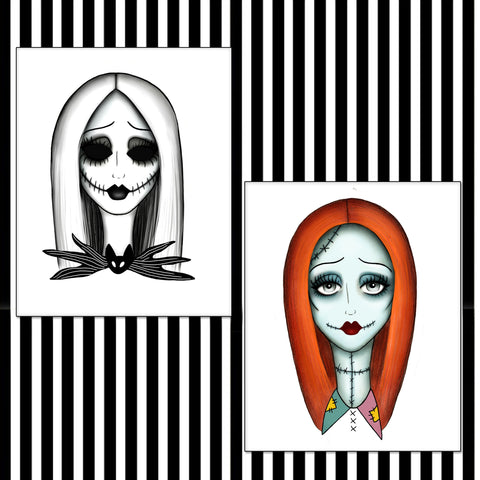 Jack Skellington & Sally Prints
