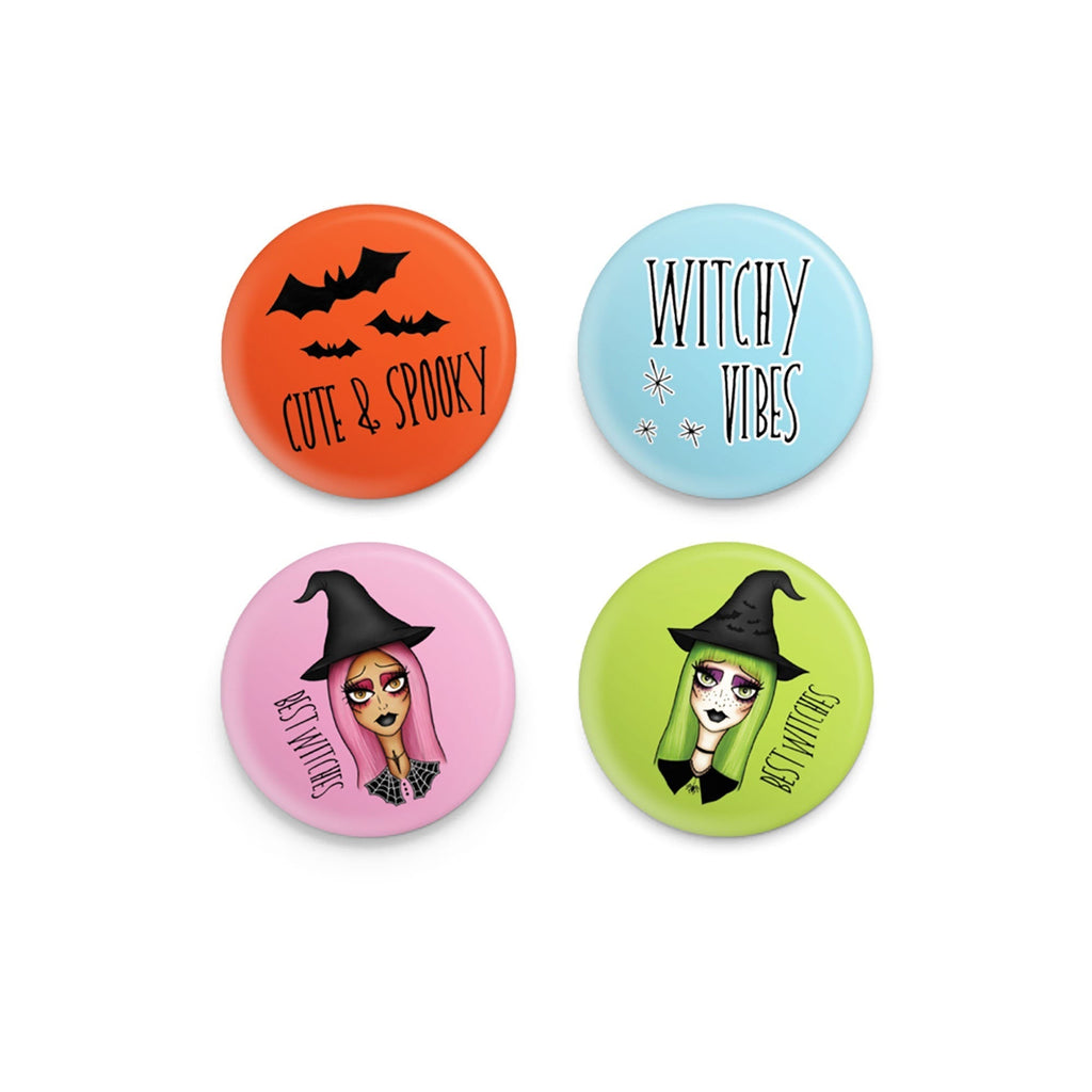 Witchy Vibes Button Pins