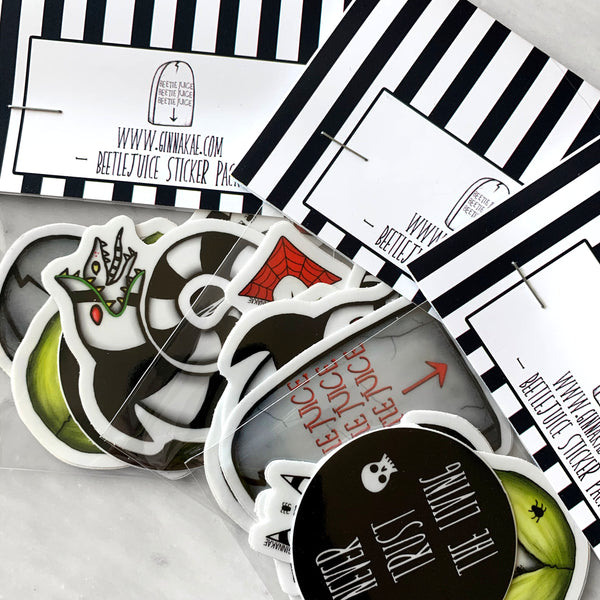 Beetlejuice Sticker Pack