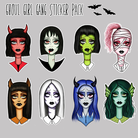 Ghoul Girl Gang Sticker Pack