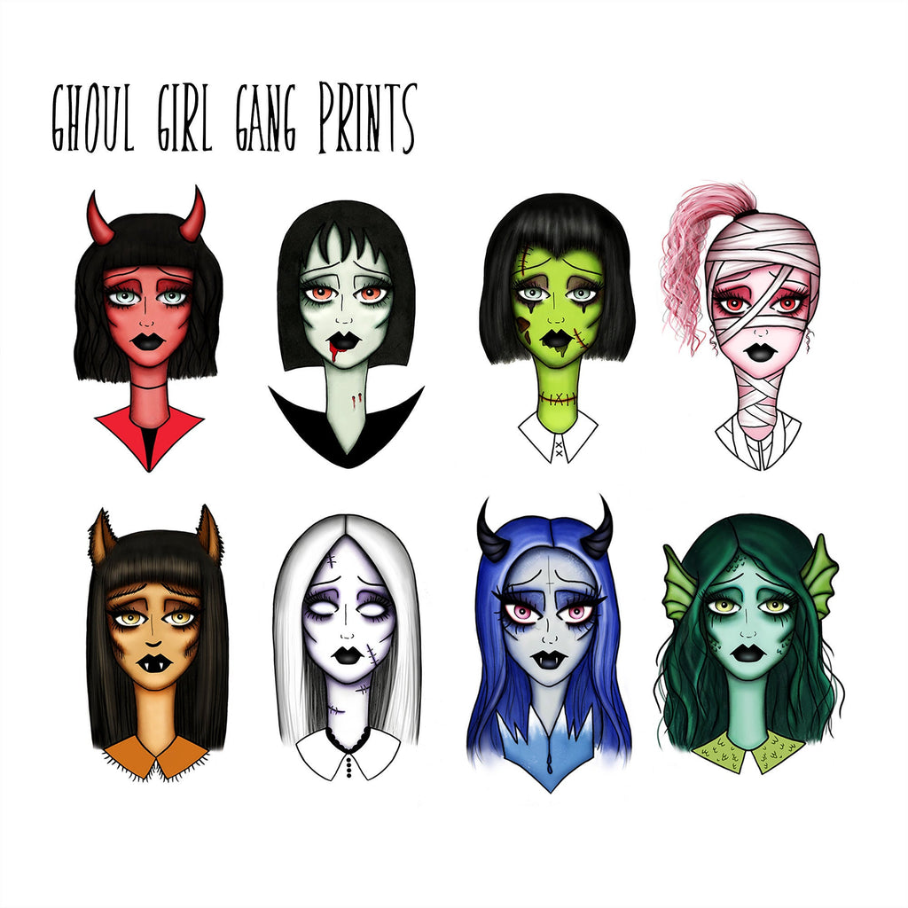 Ghoul Girl Gang 4x6 Inch Prints