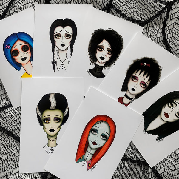 Spooky Girl Gang 4x6 Inch Prints