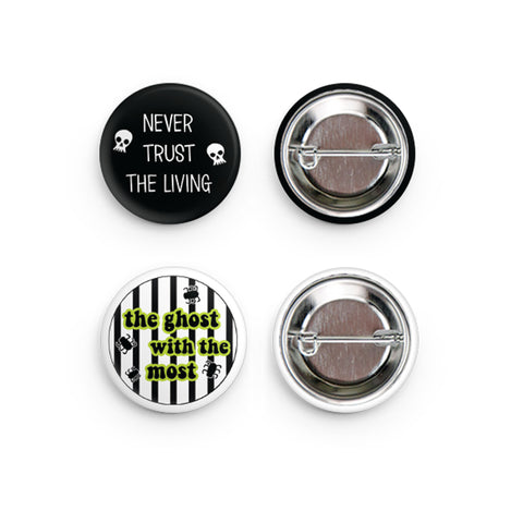 Beetlejuice Button Pins