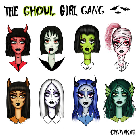 The Ghoul Girl Gang Limited Edition Poster