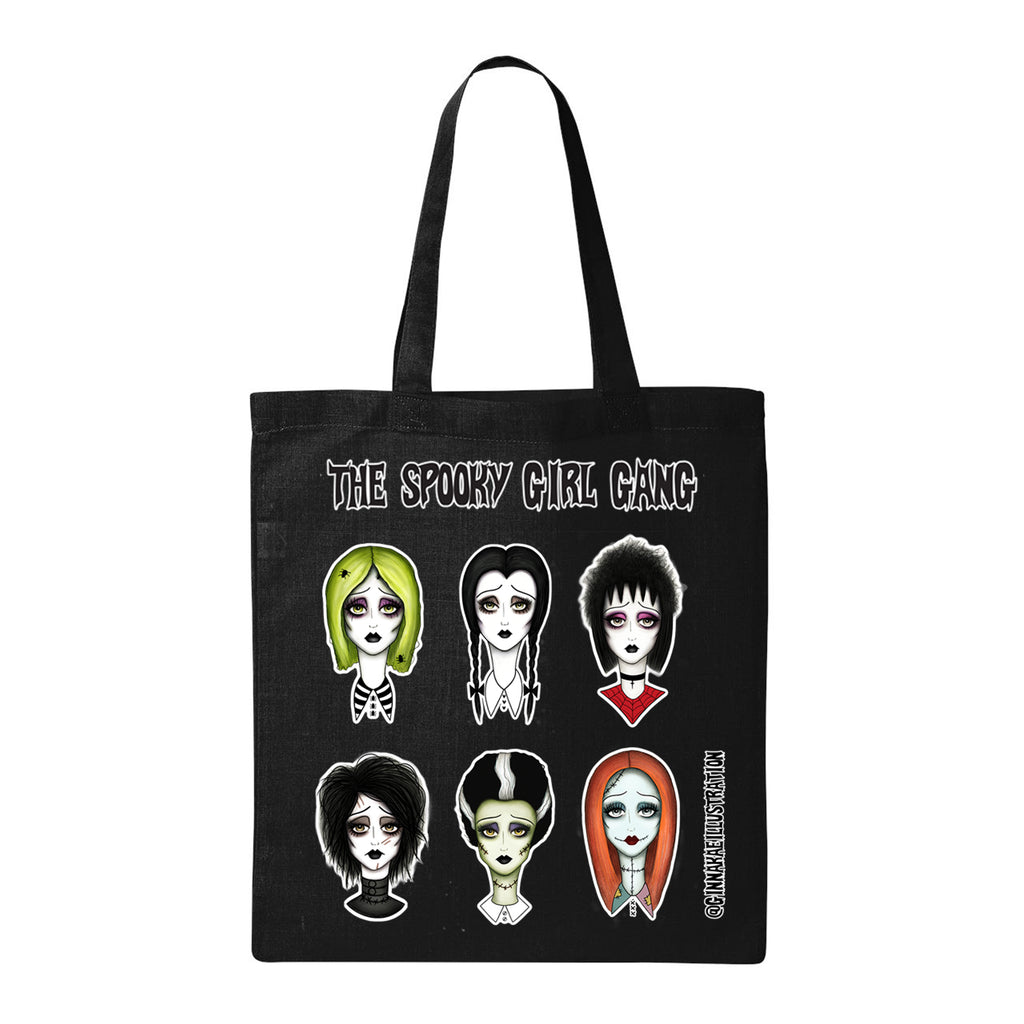 Spooky Girl Gang Tote Bag