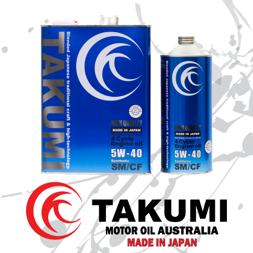 High Quality 5W-40 - Takumi Motor Oil Australia