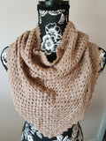 S006 Alpaca Shawl with Tie - Brown Heather Color - Country Gables Ltd