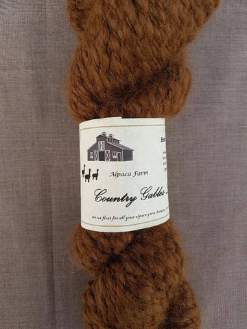 18 Chunky Brown Alpaca Yarn 80% Alpaca 20% Merino - Country Gables Ltd (alpaca farm)