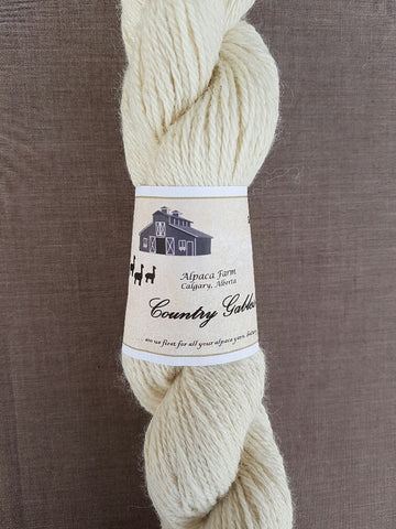 212 3 Ply Cream Alpaca Yarn (100%) - Country Gables Ltd (alpaca farm)