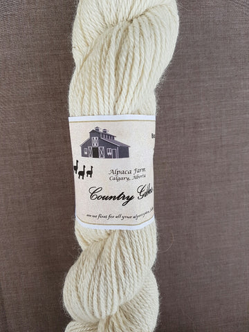 214 3 Ply White Alpaca Yarn (100%) - Country Gables Ltd (alpaca farm)